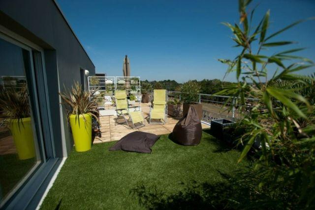 Amenager Une Grande Terrasse Idées Design Moderne Terrasse Et Balcon