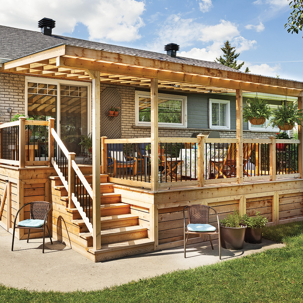 Abri terrasse bois en Promotion Auvent de terrasse bois