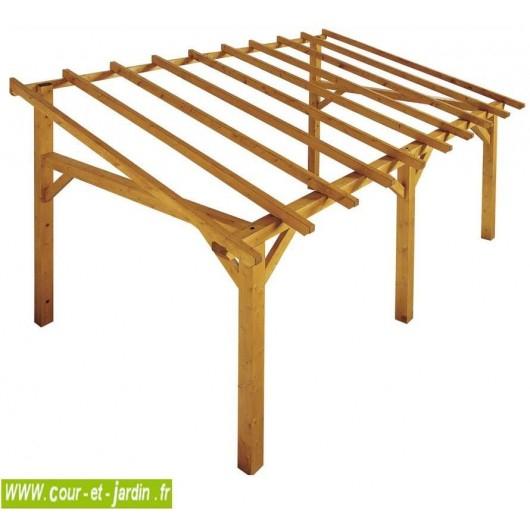 Auvent bois auvent en bois charpente en kit abri