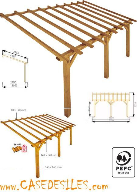 Auvent de terrasse en bois à Prix Plancher Auvent de