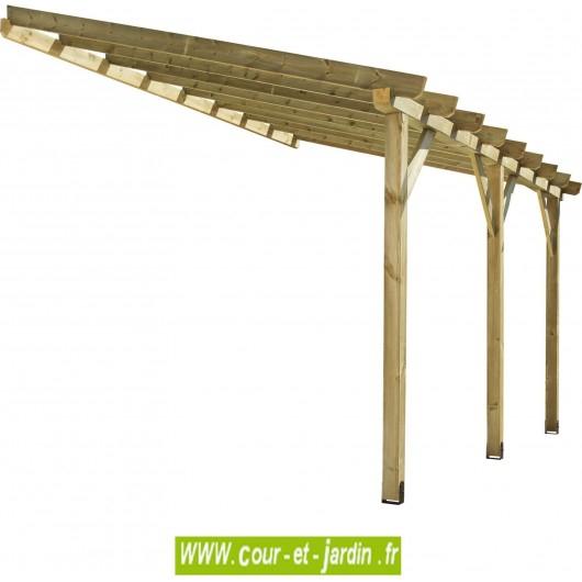 Auvent terrasse tonnelle adossée abt4230 fabrication