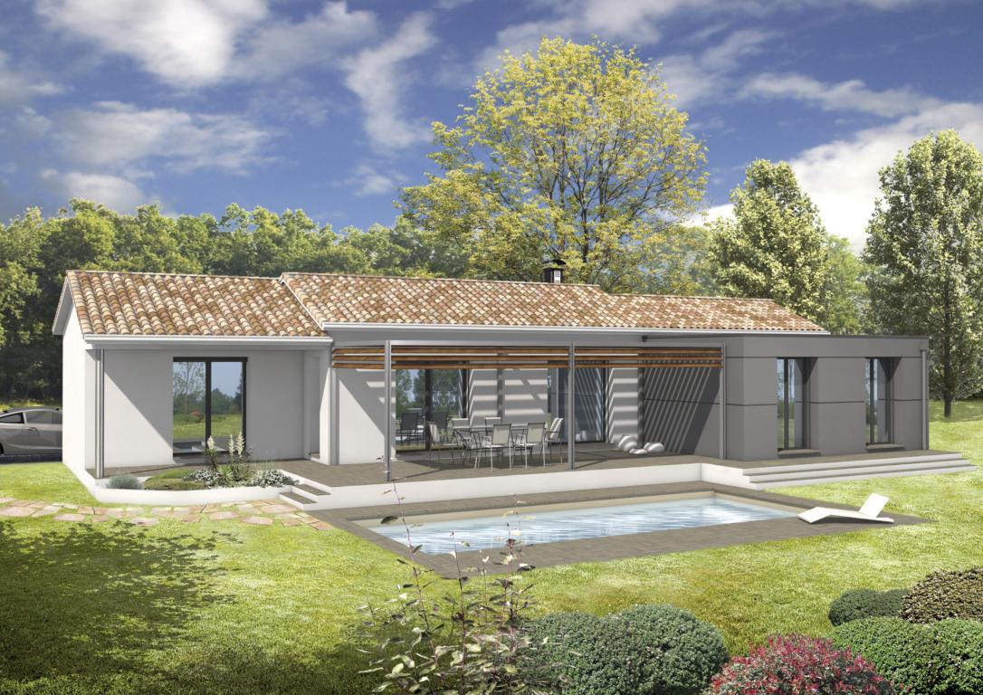 Avancée De toit Pour Terrasse Maison Modulable Avec Avancée toiture Bac Acier Aria