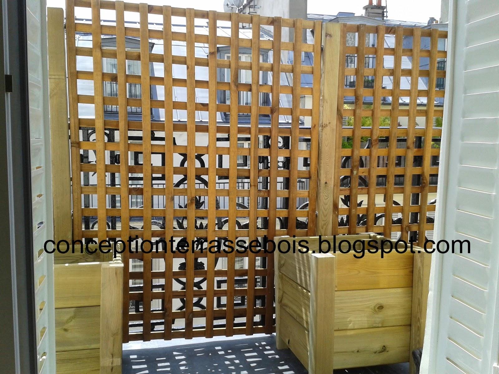 Bois Pour Brise Vue balcon terrasse bois conception d une terrasse en bois brise