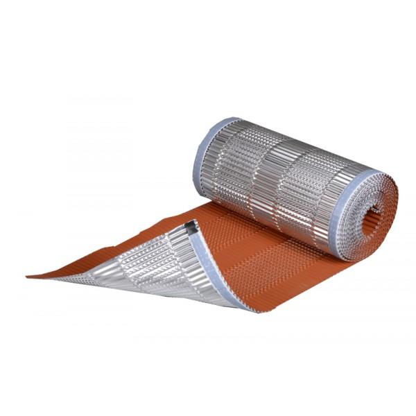 Closoir souple Aluminium laqué couleur tuile avec bande de