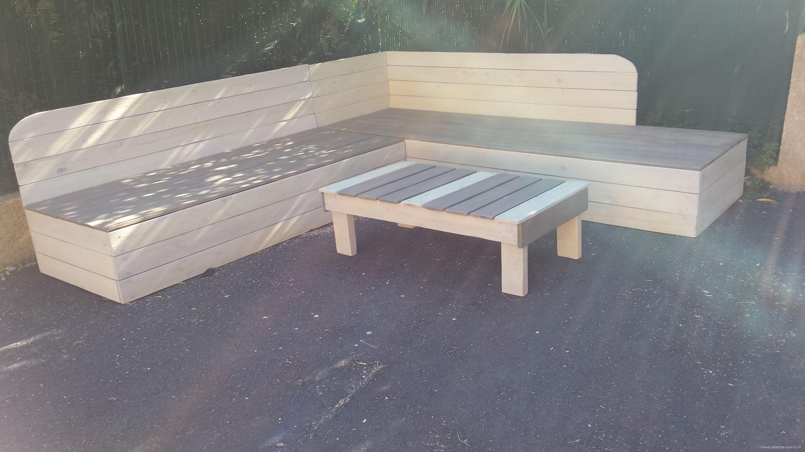 Table De Jardin Recup banquette avec palette des idées - idees conception jardin
