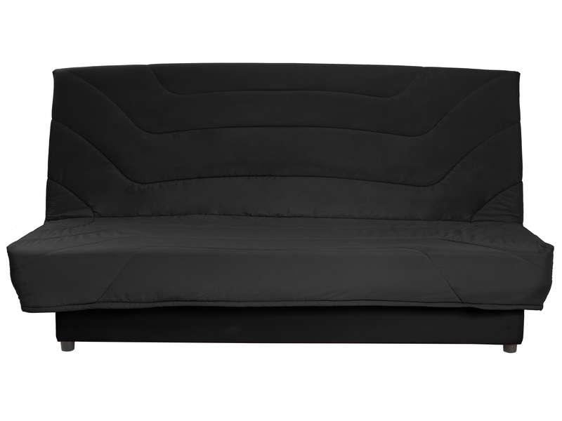 Banquette clic clac en tissu EMMA coloris noir Vente de