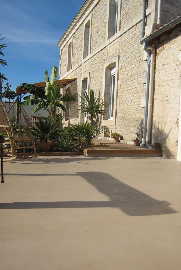 Béton décoratif pour sols extérieurs béton ciré décoratif