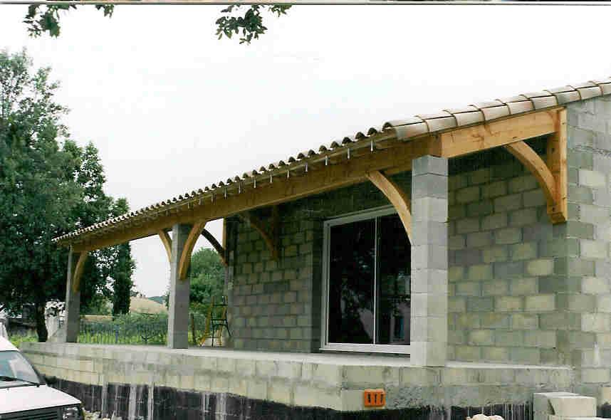 Terrasse couverte avec poteaux beton Nos Conseils