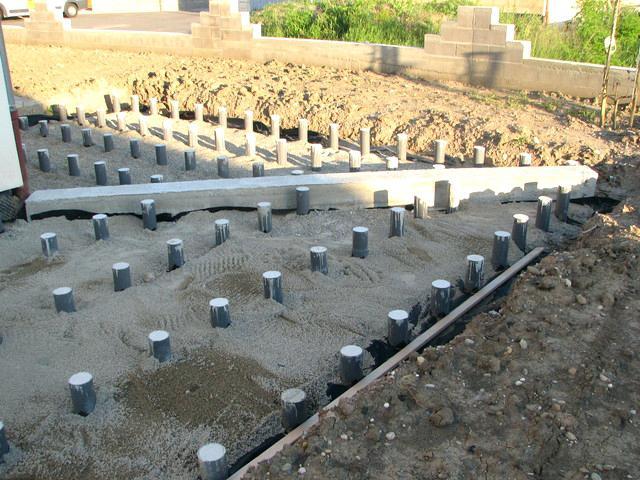 terrasse sur plot beton