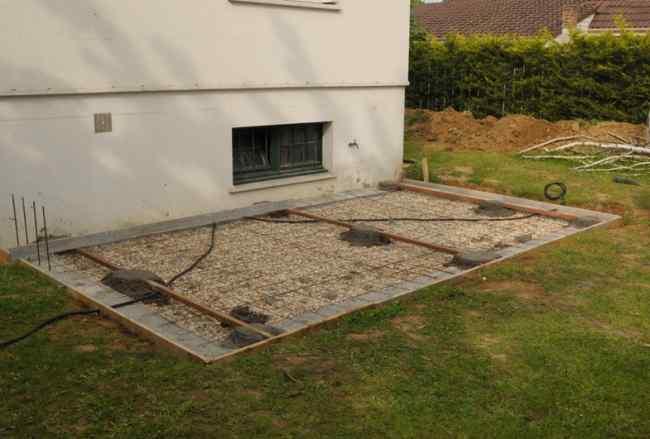 Toit terrasse beton prix Mailleraye jardin