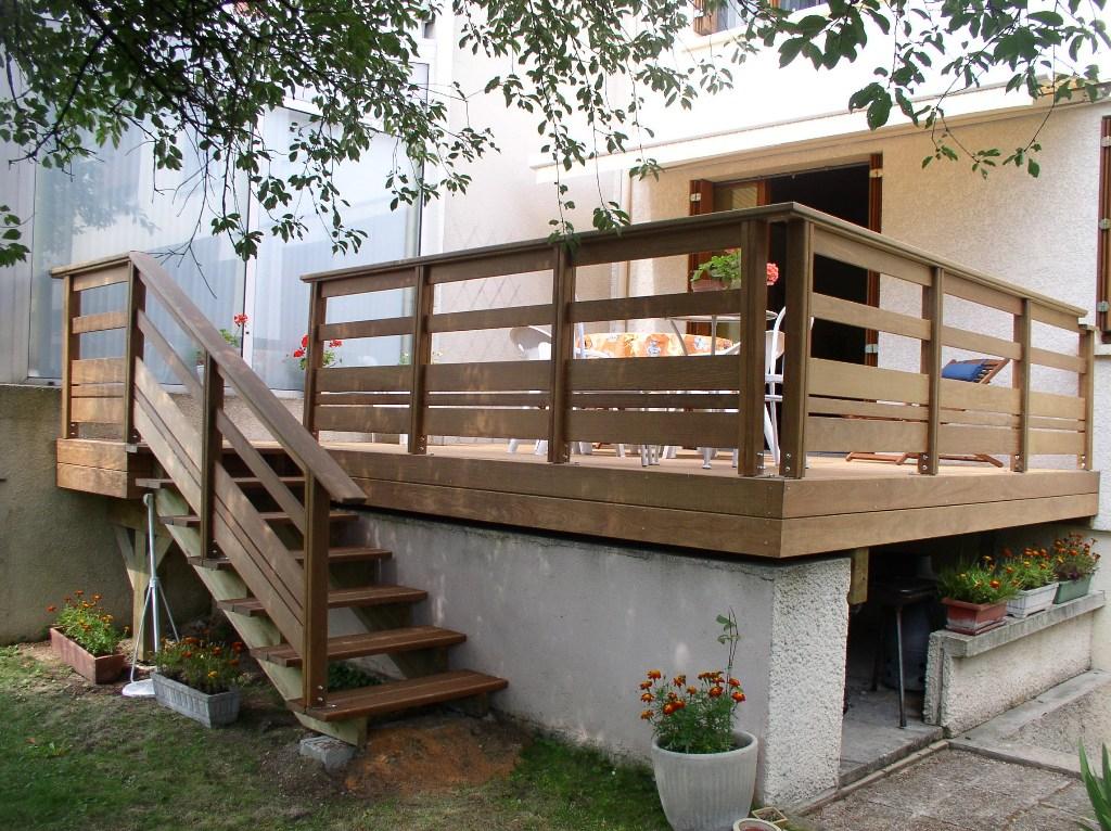 Terrasse bois posite hauteur