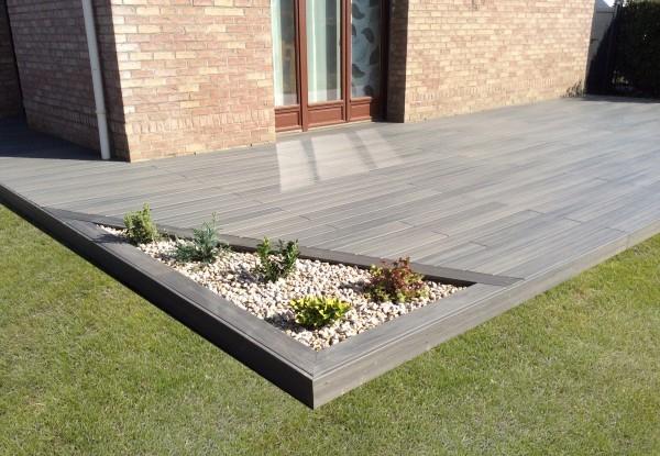 Terrasse en bois posite Fiberon XTREM GALAXY JARDIN