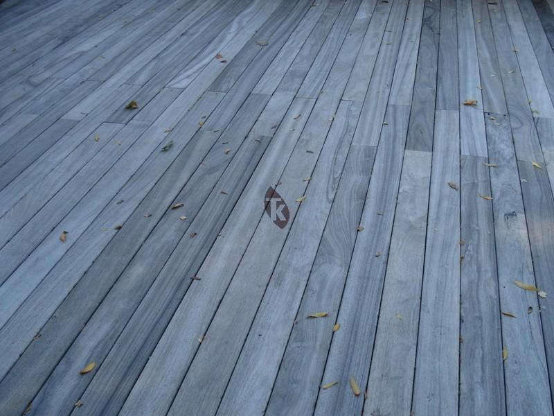 Lames de terrasse en bois exotique Padouk grandes