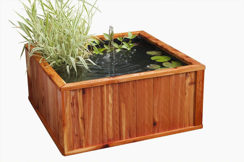 Bassins de jardin design et pas cher en bois deco