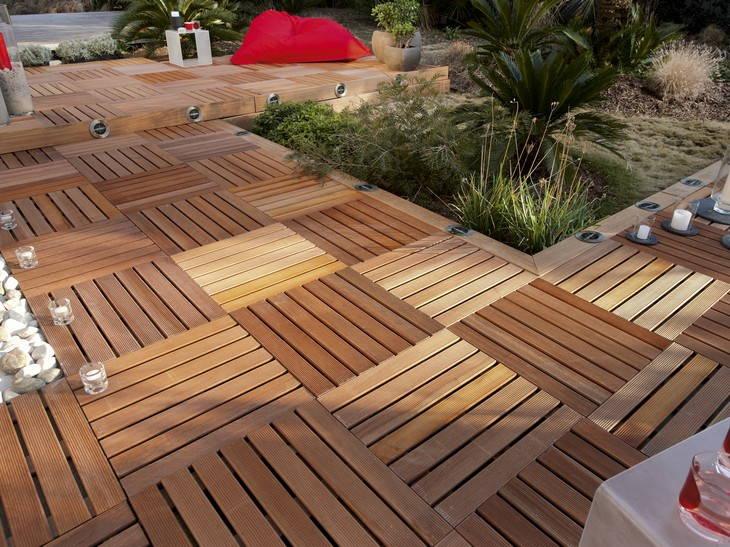 Dalle terrasse bois 100x100 pas cher