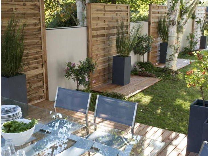Terrasse en bois naturel et bois posite pas cher