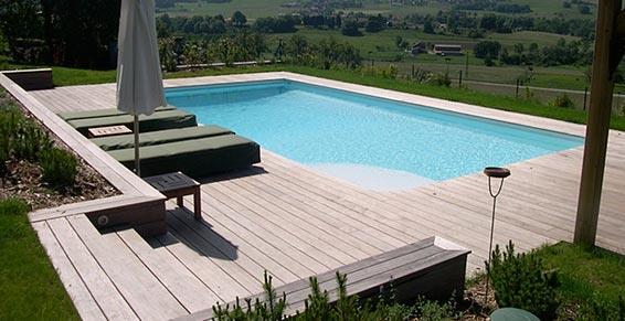 Piscine avec grande terrasse en bois Aqua Serp photo n°76