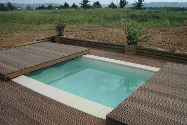 Poolabri Abri piscine terrasse plat BOIS