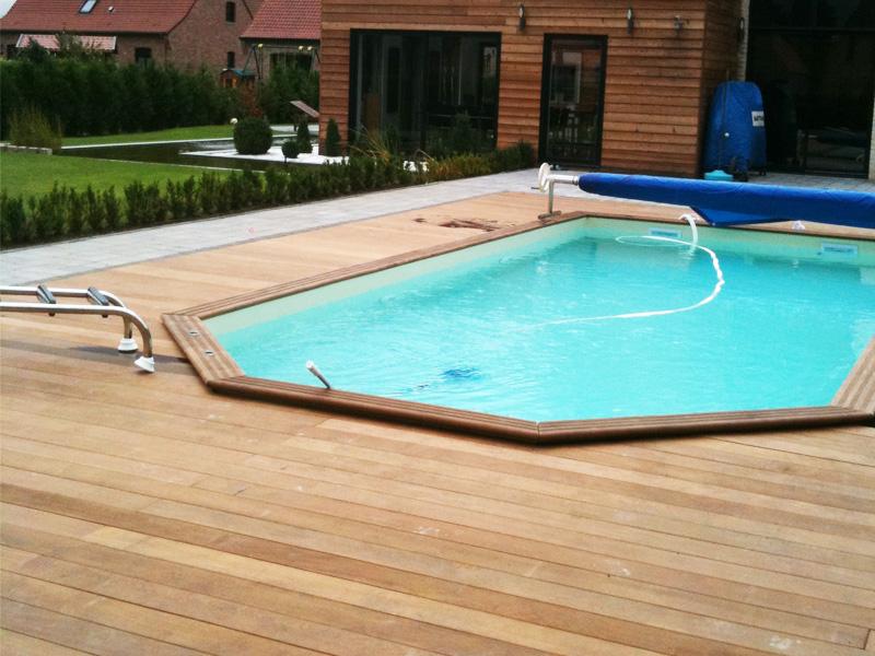 Prix terrasse bois piscine hors sol Construction