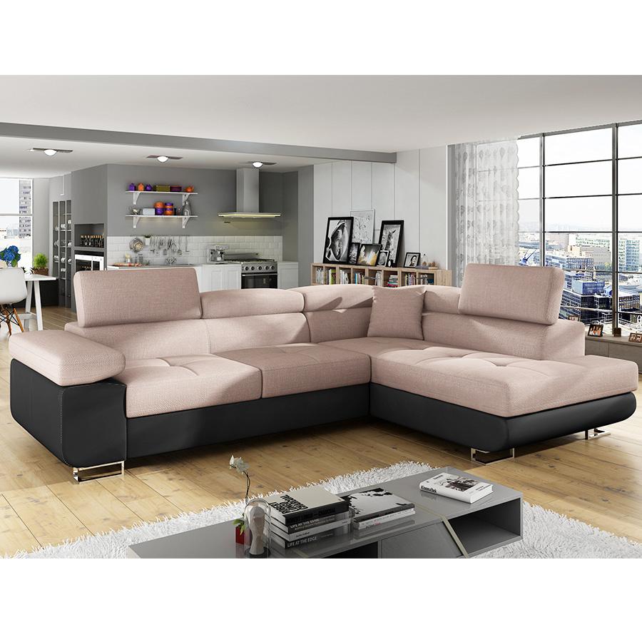 Canapé d angle convertible en tissu