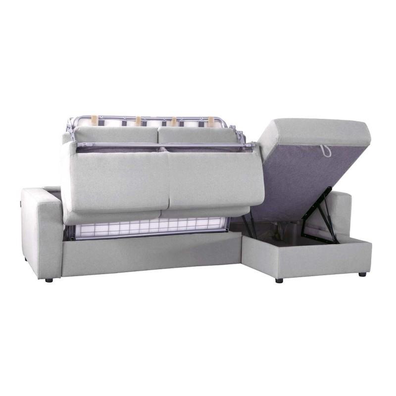 Canapé lit d angle réversible microfibre OUVERTURE