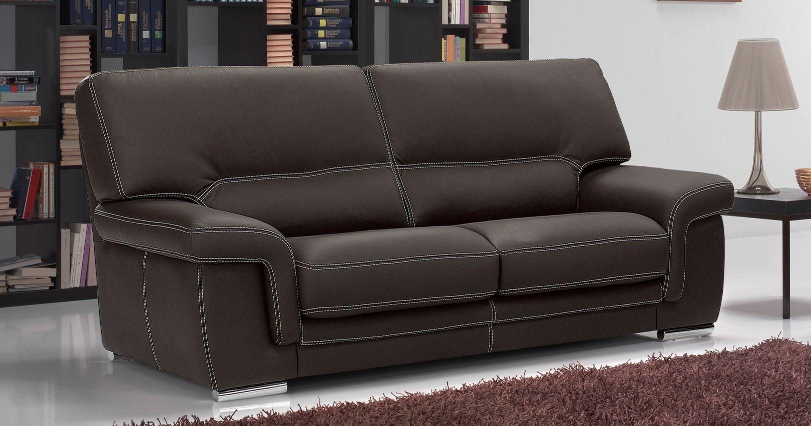 Canapé en cuir AOSTE personnalisable et confort chez