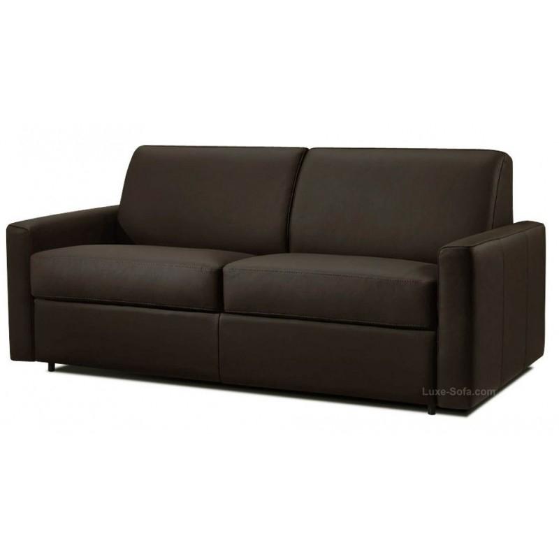 Canapé fixe 2 places et 3 places cuir haut de gamme