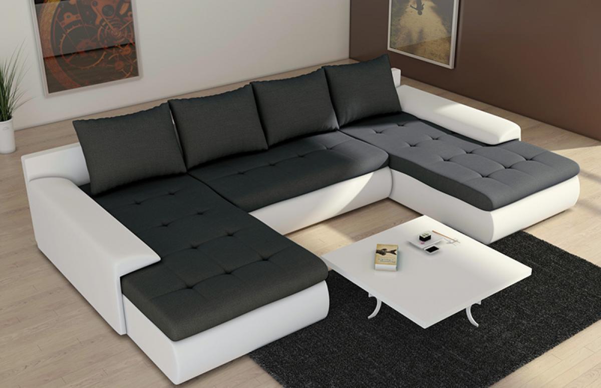 s canapé d angle cuir noir but
