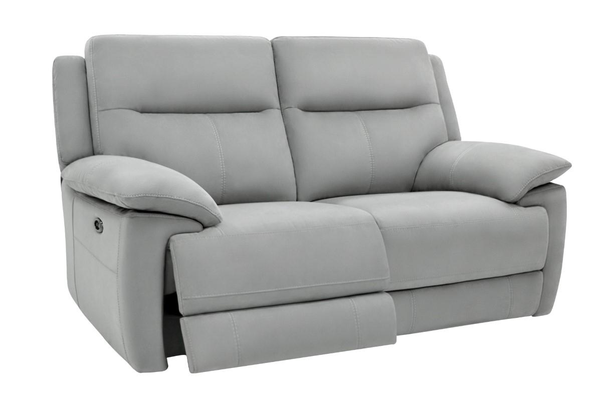 Canapé 2 places relax élect CURTISS Tissu Gris pas cher