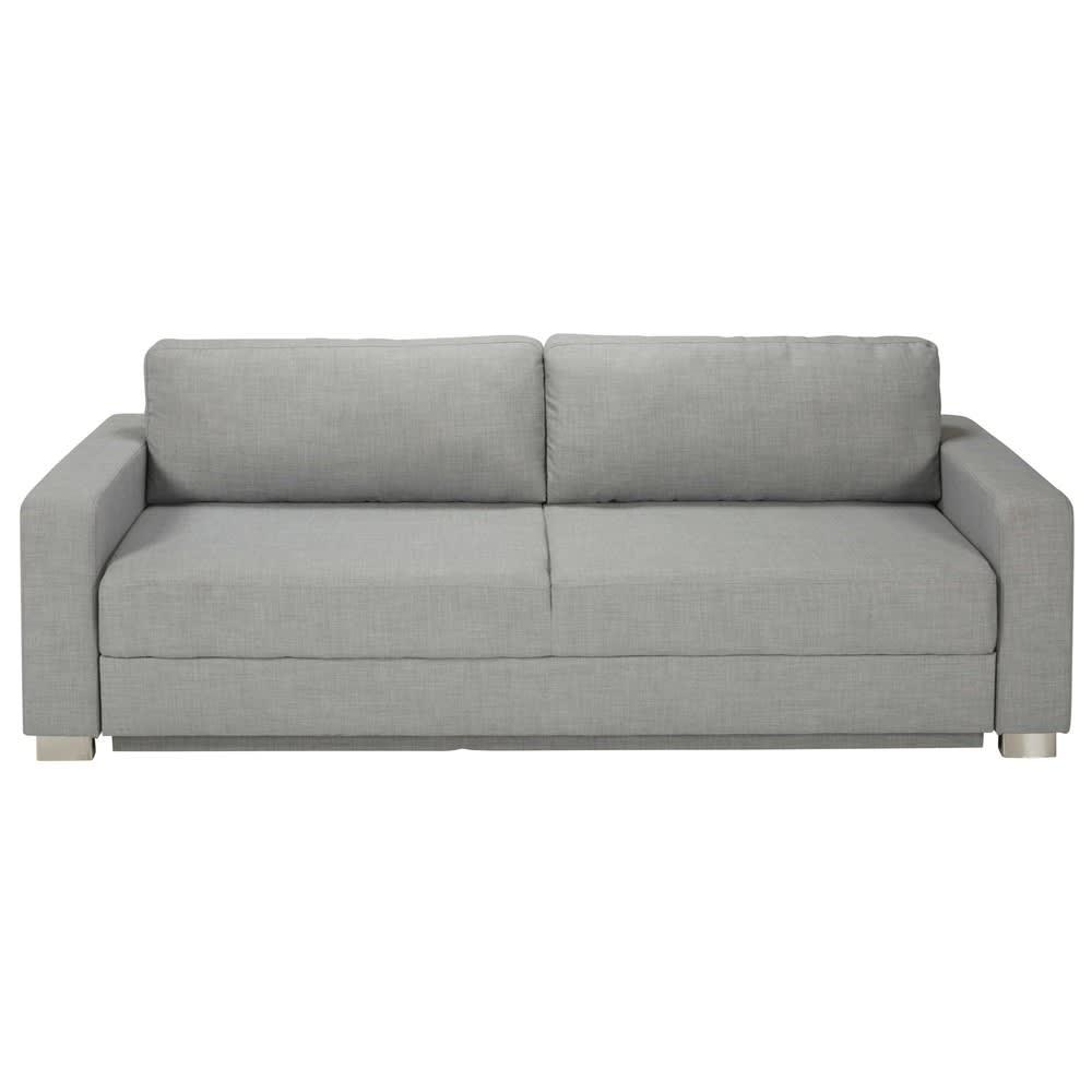 Canapé lit 3 places gris clair Urban