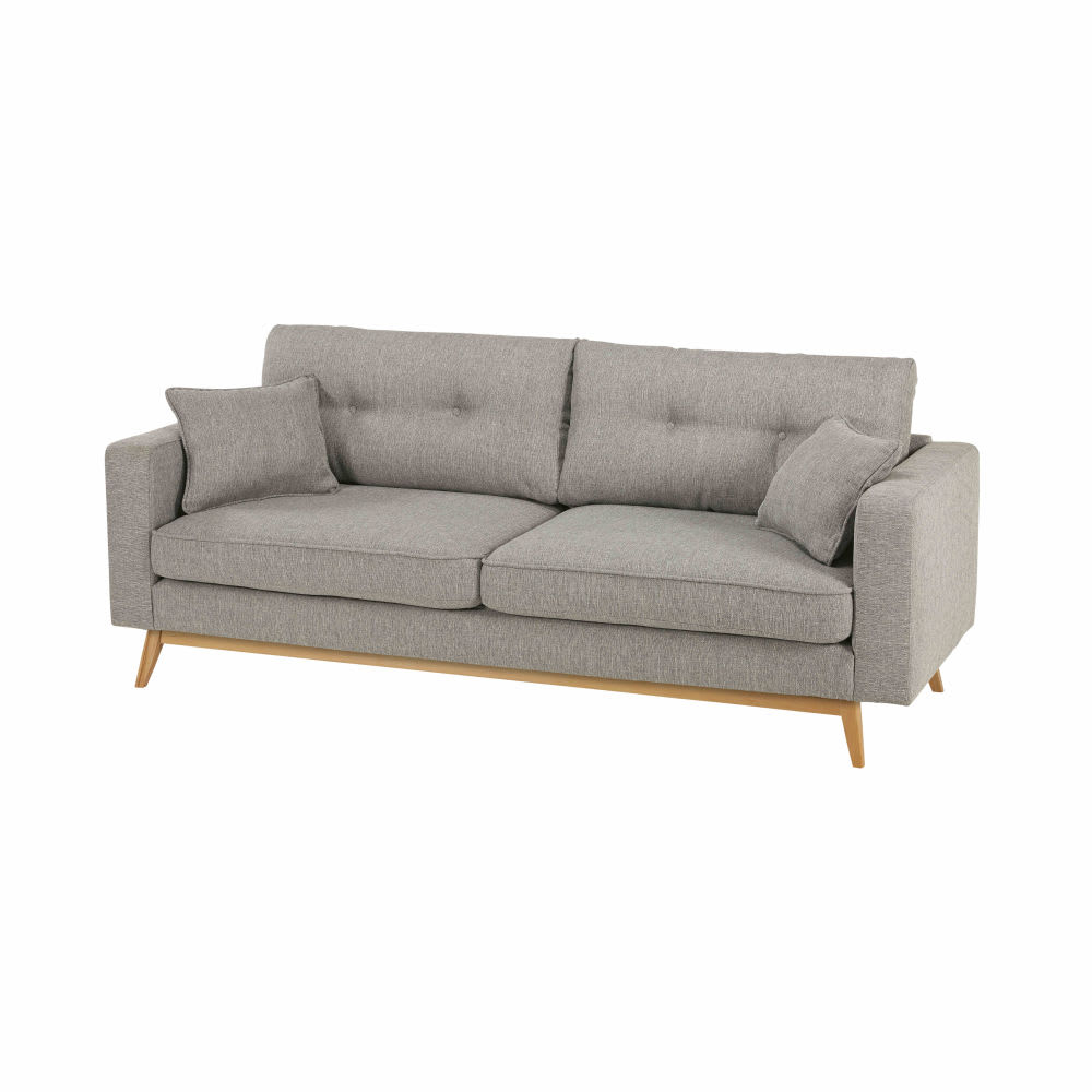 But Canape Gris Canapé Style Scandinave 3 Places Gris Clair Brooke
