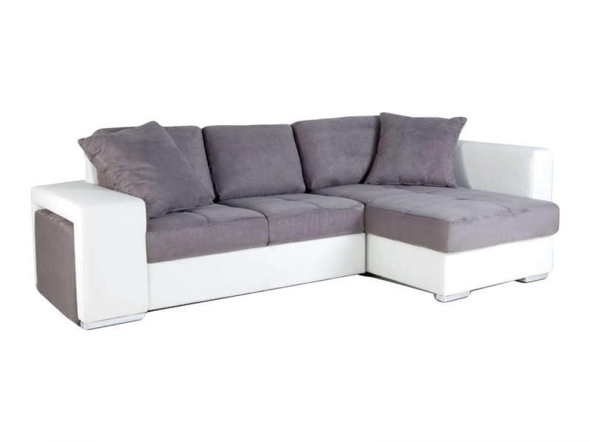 s canapé d angle gris et blanc but
