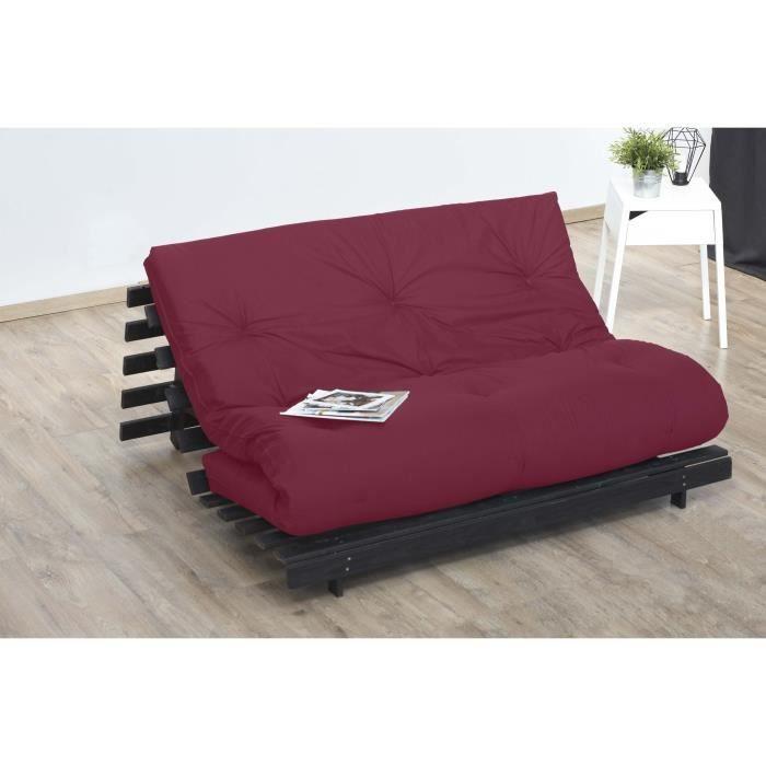 matelas futon rouge en coton 140x190 Achat Vente futon