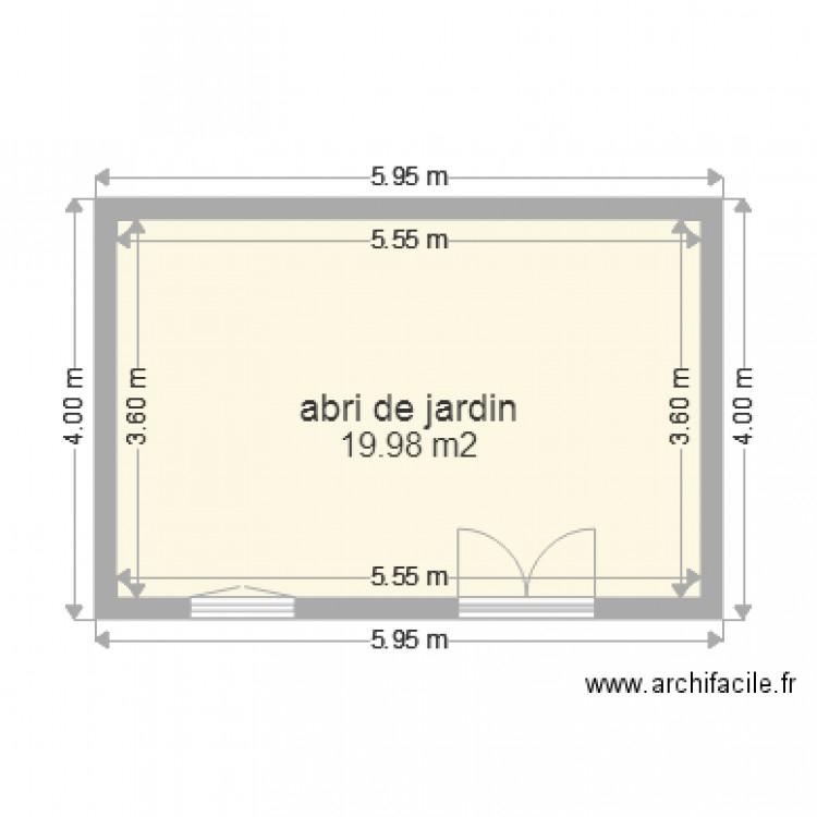 terrasse sur abri de jardin 01 Plan 1 pièce 20 m2