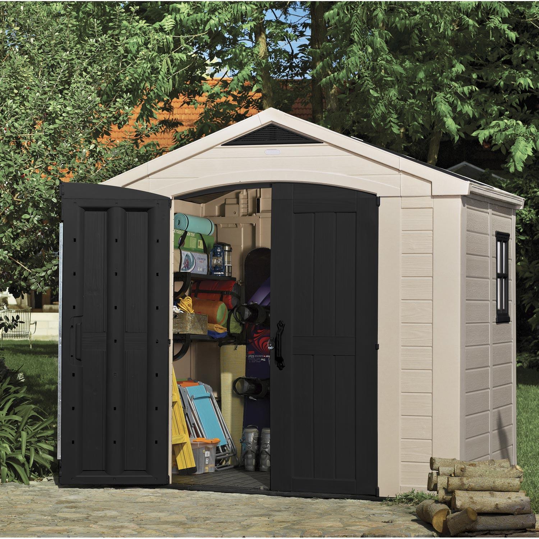 Abri de jardin résine Domus 3 86 m² Ep 20 mm