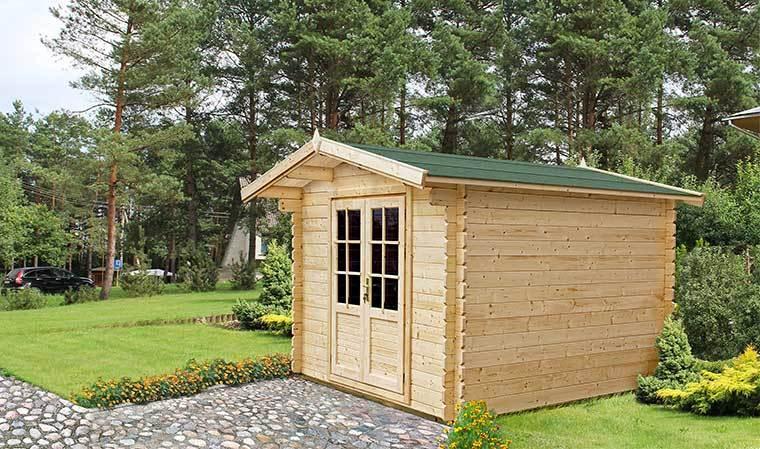 Petit abri de jardin en bois 5m2 avec plancher et bardeau