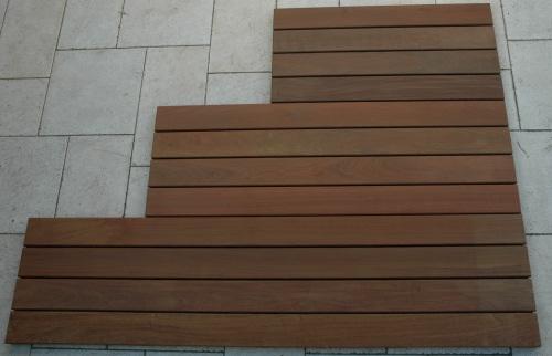 Grands caillebotis Petite terrasse en bois