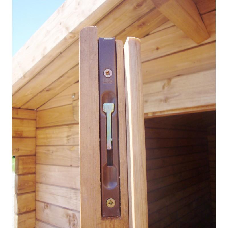 Abri de jardin 16m² en bois 40mm traité teinté marron