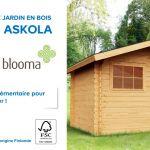 Canapé De Jardin Bois Abri De Jardin En Bois askola Blooma Castorama