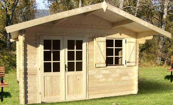 Abri de jardin Pyrénées 12 m² en bois en kit sans permis