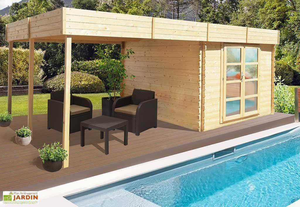 Abri jardin bois Pool House Almandara Abri de jardin 600