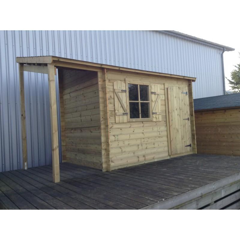 Cabane de jardin avec abris bois Les cabanes de jardin