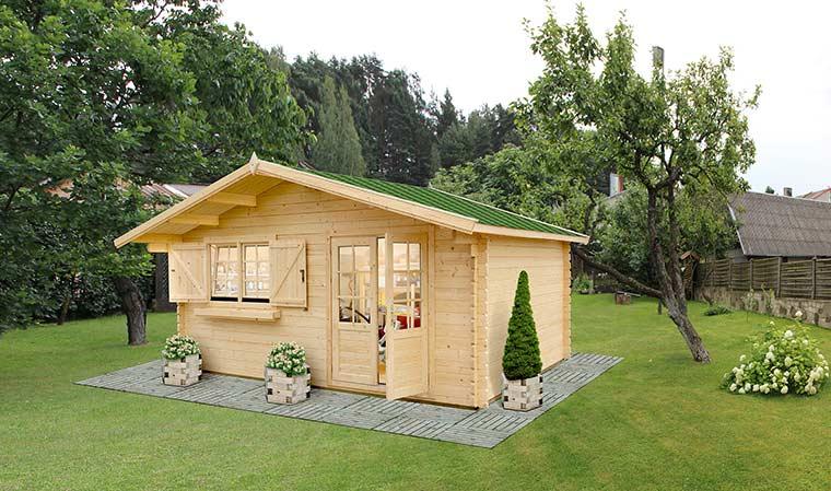 Chalet de jardin en bois de qualité fabriqué en bois europeen