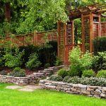 Canapé De Jardin Bois Clôture Bois Moderne – 20 Idées Pour Un Design Extérieur