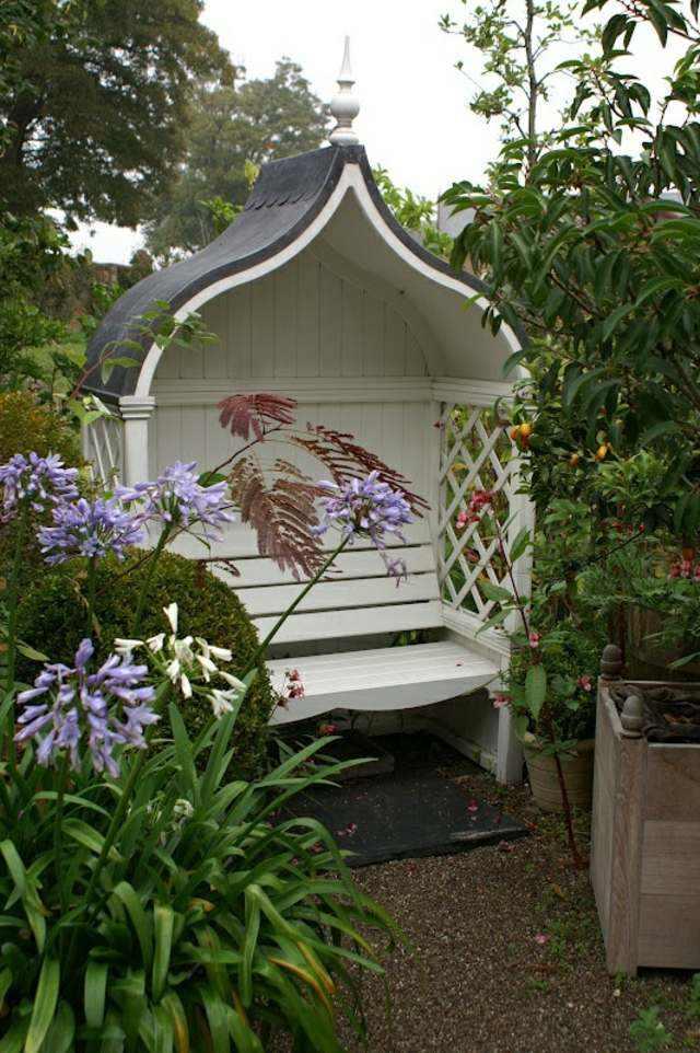 Petit banc de jardin en bois pierre ou métal 52 idées
