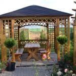 Canapé De Jardin Bois Quel Kiosque De Jardin Pour Le Cour De Vos Rêves