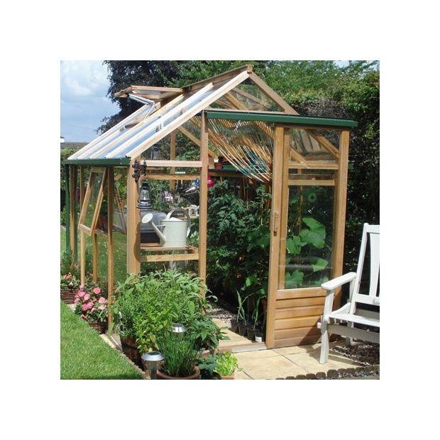 Serre de jardin en bois et verre trempé Classic 4 4m² hors