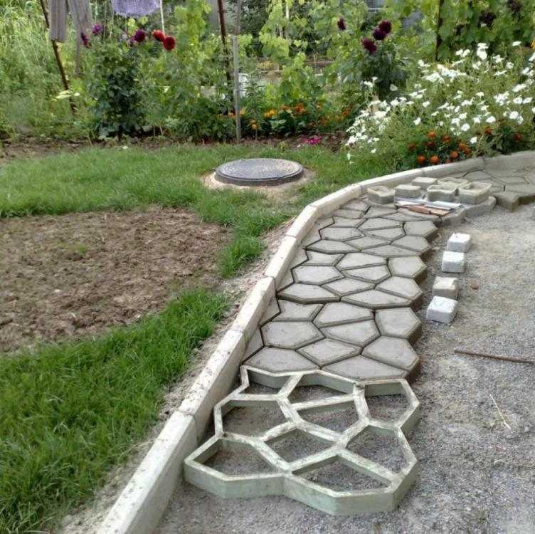 Décoration jardin pas cher à faire soi même en béton coulé