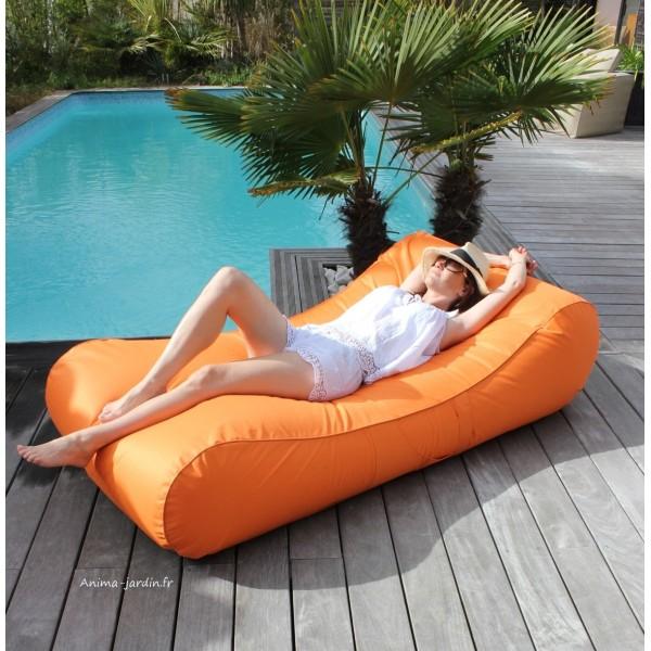 Matelas de piscine flottant Wave gonflable canapé pouf