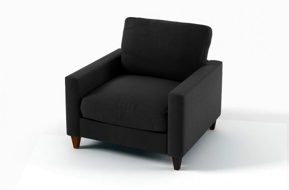 Fauteuil 1 place en tissu de qualité sweden noir